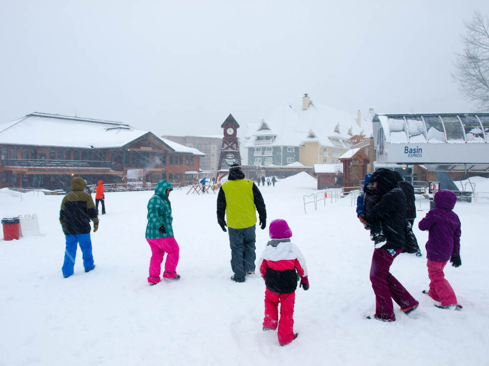 Our crew headed for the Schweitzer Village