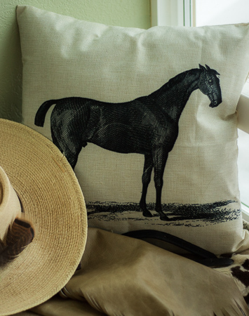 Thoroughbred throw pillow cover