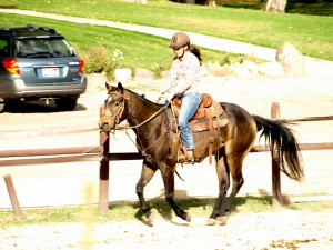 Smokey and Danielle loping