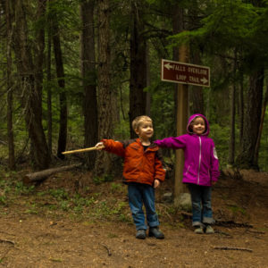 Little Hikers at Copper Falls