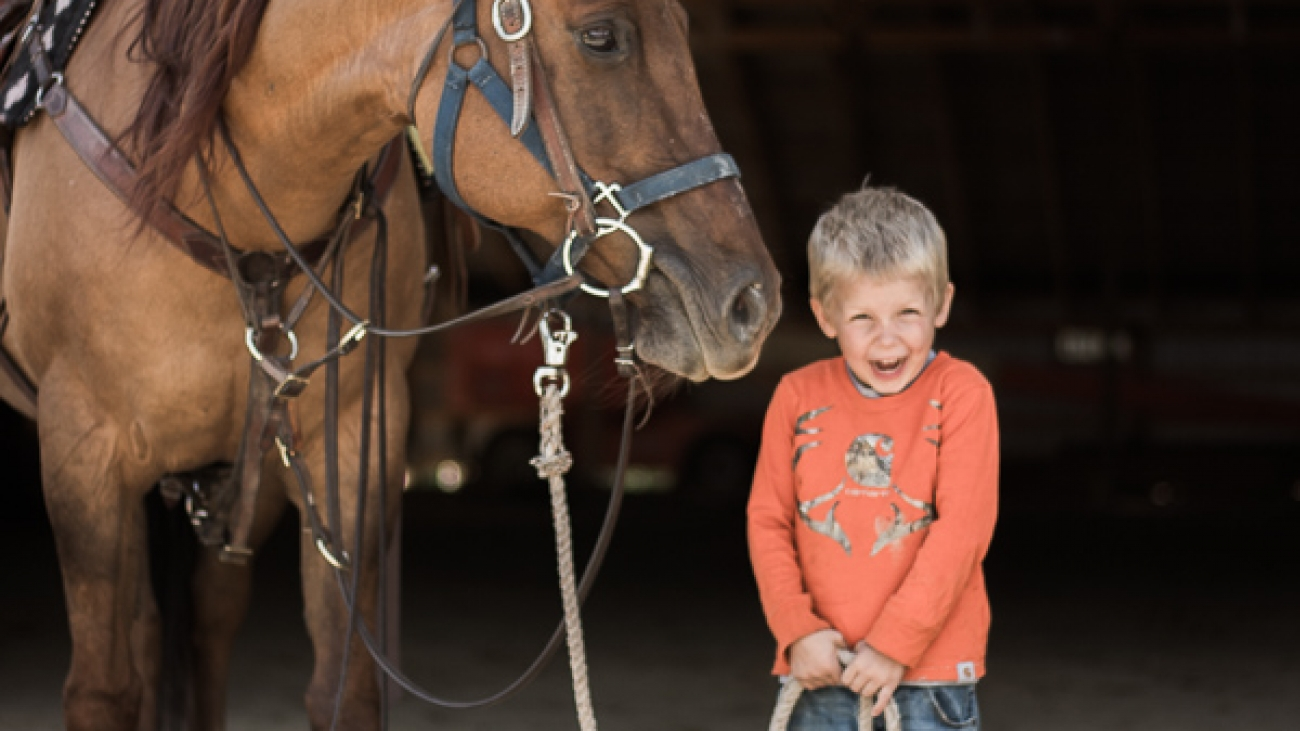 Growing Up Guest Ranch Gabe and Horse